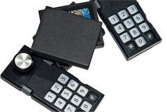 Vieux contrôles de jeu/jeu vidéo image stock
