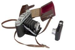Vieux contre l'appareil-photo neuf Photos libres de droits