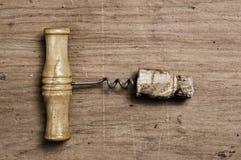 Vieux corckscrew. Photo libre de droits