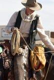 Vieux cordier occidental de cowboy photographie stock libre de droits