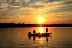 Vieux coucher du soleil d'hickory photographie stock libre de droits