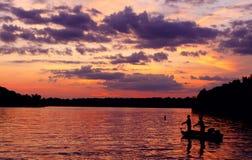 Vieux coucher du soleil d'hickory Images stock