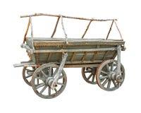 Vieux coupe-circuit en bois de chariot Photo stock