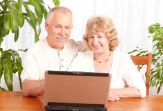 Vieux couples Images stock
