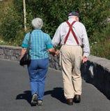 Vieux couples Photographie stock