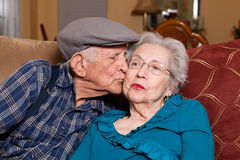 Vieux couples aînés Image libre de droits