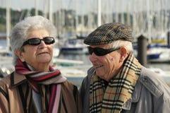 Vieux couples aînés heureux Images libres de droits