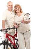 Vieux couples actifs Image libre de droits