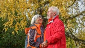 Vieux couples affectueux Photo libre de droits