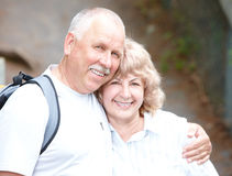 Vieux couples d'aînés Photos stock