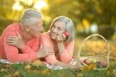 Vieux couples d'une manière amusante images libres de droits