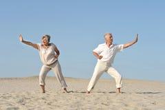 Vieux couples dans l'amour Images stock