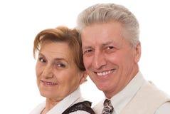 Vieux couples dans le bureau Image libre de droits