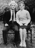 Vieux couples de photographie de vintage dans l'amour Photographie stock libre de droits