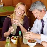 Vieux couples de sourire Images stock