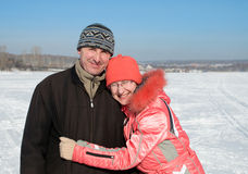 Vieux couples heureux Photographie stock