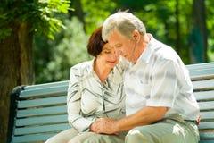 Vieux couples heureux Image libre de droits