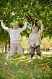 Vieux couples heureux Images stock