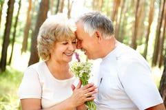 Vieux couples heureux Photo libre de droits