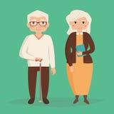 Vieux couples Illustration de vecteur Photos libres de droits