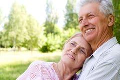 Vieux couples mignons Photo stock