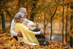 Vieux couples mignons Photographie stock libre de droits