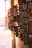 Vieux courrier de boîtes aux lettres image stock