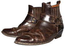 Vieux cowboy Boots Photographie stock