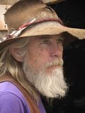 Vieux cowboy superficiel par les agents images libres de droits