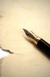 Vieux crayon lecteur et papier photos libres de droits