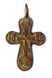 Vieux croisé chrétien images stock