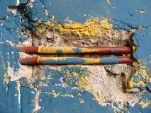 Vieux cru abstrait de mur Photographie stock