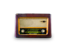 Vieux cru par radio Images stock
