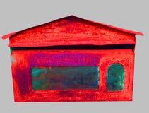 Vieux cru rouge de boîte aux lettres image libre de droits