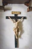 Vieux crucifix chrétien images libres de droits