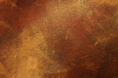 Vieux cuir brun Images stock