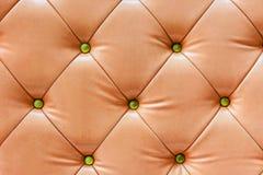 Vieux cuir de sofa Photographie stock libre de droits