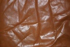 Vieux cuir froissé images stock