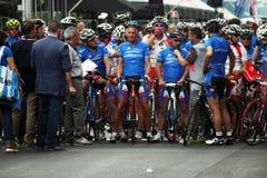 Vieux cyclistes Images libres de droits