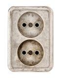 Vieux débouché électrique sale Images libres de droits