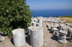 Vieux débris de Thira, Grèce Images libres de droits