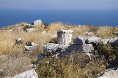 Vieux débris de Thira, Grèce Photographie stock libre de droits