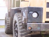Vieux déchargeur Utilisé pour le transport des minerais Transport industriel Tous les logos enlevés photo libre de droits