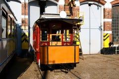 Vieux dép40t de tramway photographie stock libre de droits