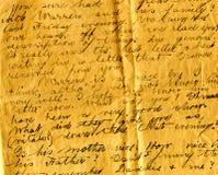 Vieux détail d'écriture de lettre Photo stock