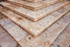 Vieux détail d'escalier Photo stock