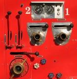 Vieux détail de camion de pompiers Photo libre de droits