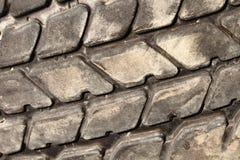 Vieux détail de pneu de camion Image stock