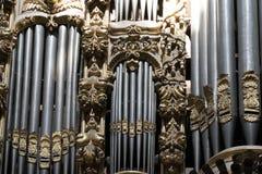 Vieux détail de tuyau d'organe d'église image libre de droits