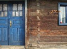 Vieux détail en bois de maison Images libres de droits